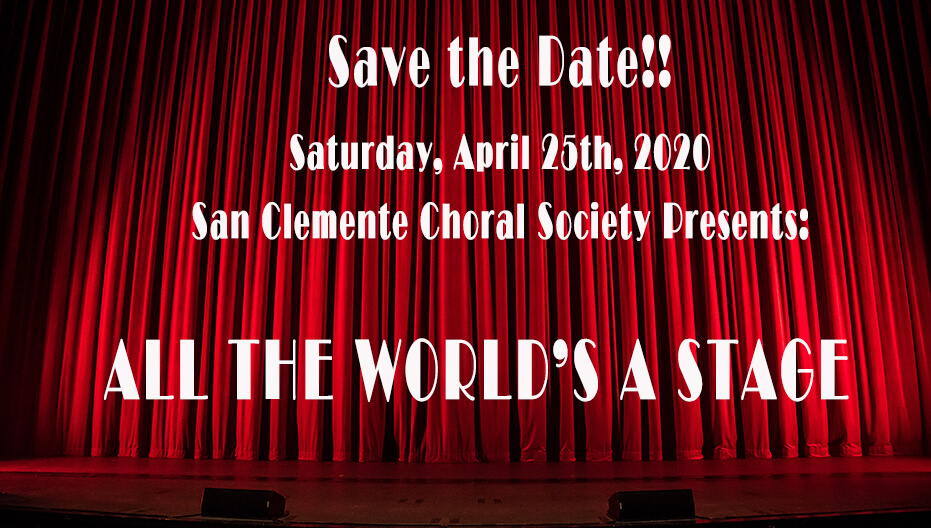 San Clemente Choral Society Spring Concert 2020